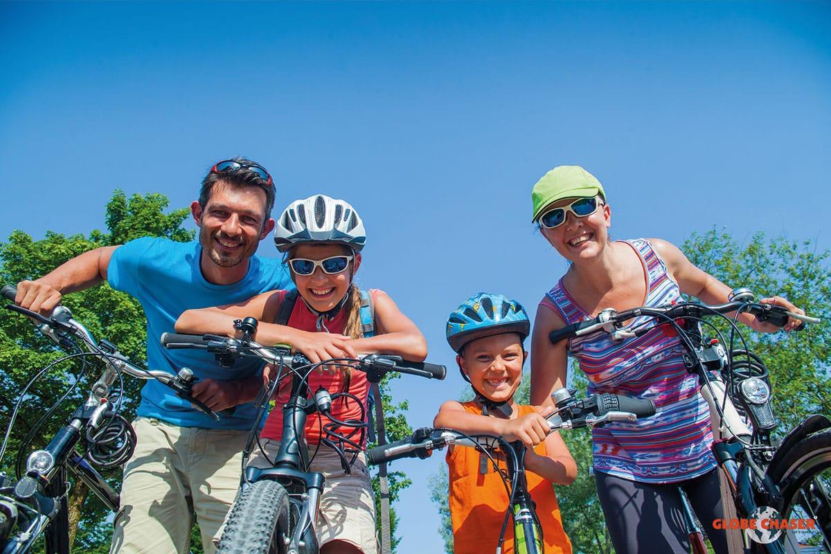 Fahrrad Schnitzeljagd mit der ganzen Familie und der Outdoor Freizeit App Globe Chaser