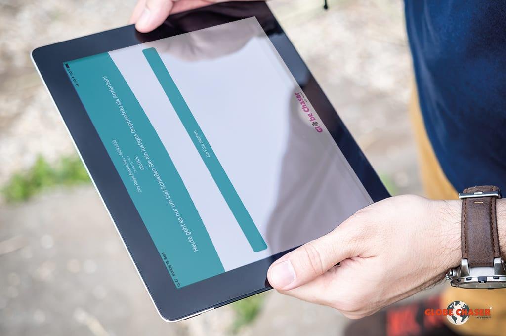 Outdoor App mit vielen Aufgaben und Moeglichkeiten für Teams | Globe Chaser